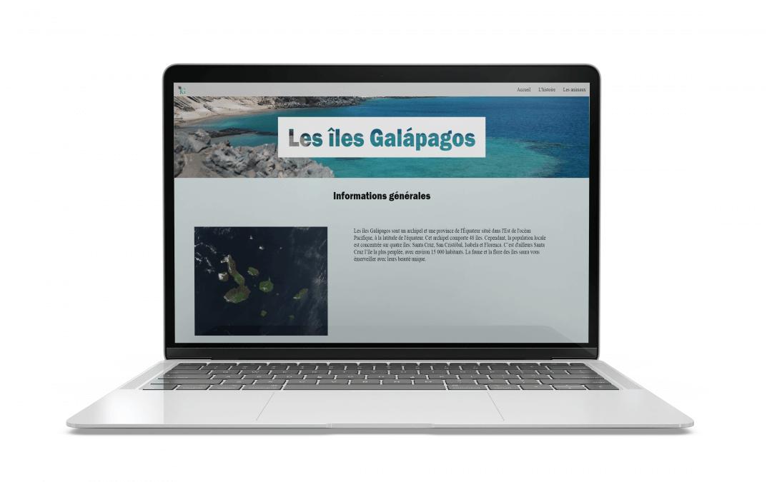 Site informatif sur les îles Galapagos
